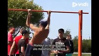 Репортаж Маардуских новостей о Чемпионате Маарду по street workout