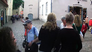 Waling down Piiskopi in Old Town tallinn, estonia on a SPB Tour