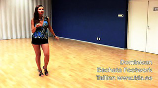 Bachata in Tallinn with Alina_ Dominican footwork workshop July 2014 at FDS