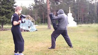 Undefeated 11 years old Muaythai Champion training video in Estonia Buddhist Temple