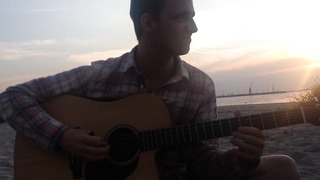 Rauno Pella Playing a new song _Dev_ at Russalka Beach, Tallinn