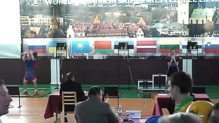 - 63 kg men world chempion 2009 Tallinn jerk 2 x 32 kg kettlebell Estonia
